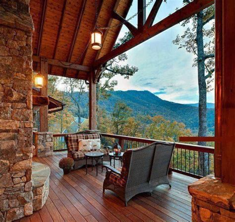 love this porch log cabin lodge pinterest like the high pitched deck roof covering maybe for the