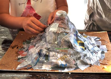 Make A Paper Mache Volcano - volcano science project