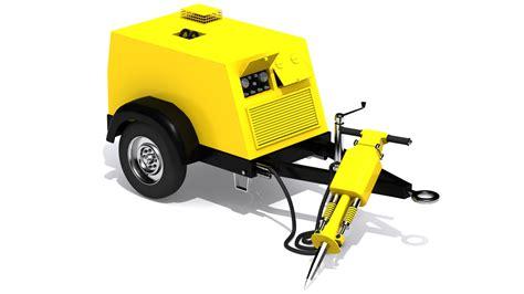 Compressor Jackhammer pneumatic hammer and compressor by darkstardesigns 3docean