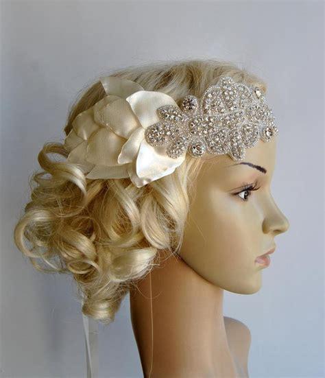 how to make a 1920s hairpiece petal bandeau bridal headband the great gatsby headband