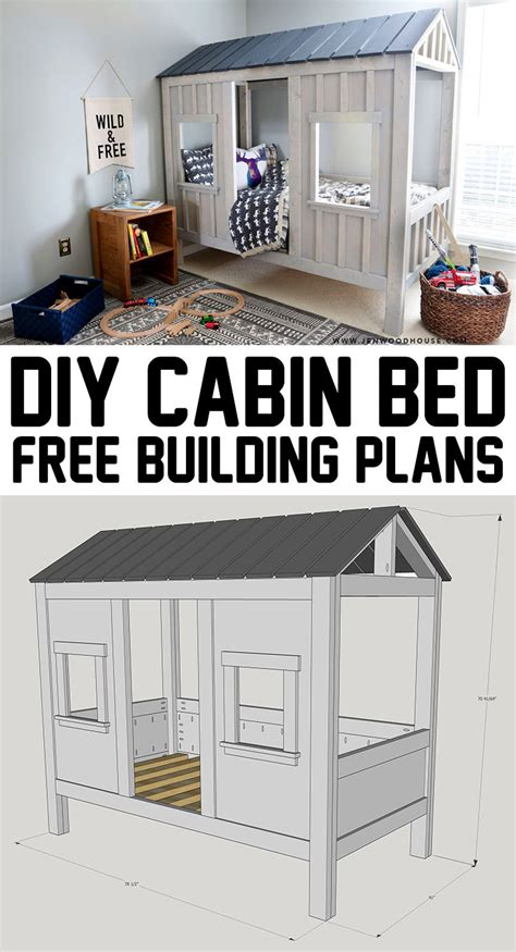 Diy House Plans by Diy Cabin Bed The House Of Wood