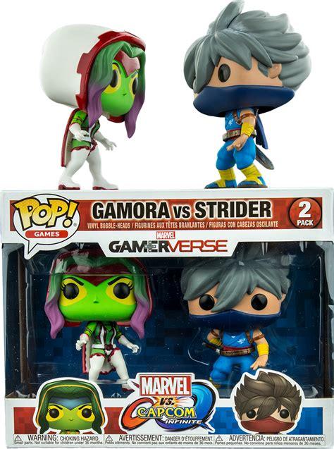 Funko Pop 2 Pack Marvel Vs Capcom Gamora Vs Strider marvel vs capcom gamora white vs strider funko pop vinyl figure 2 pack popcultcha