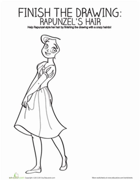 handouts on how to braid hair draw rapunzel s hair worksheet education com