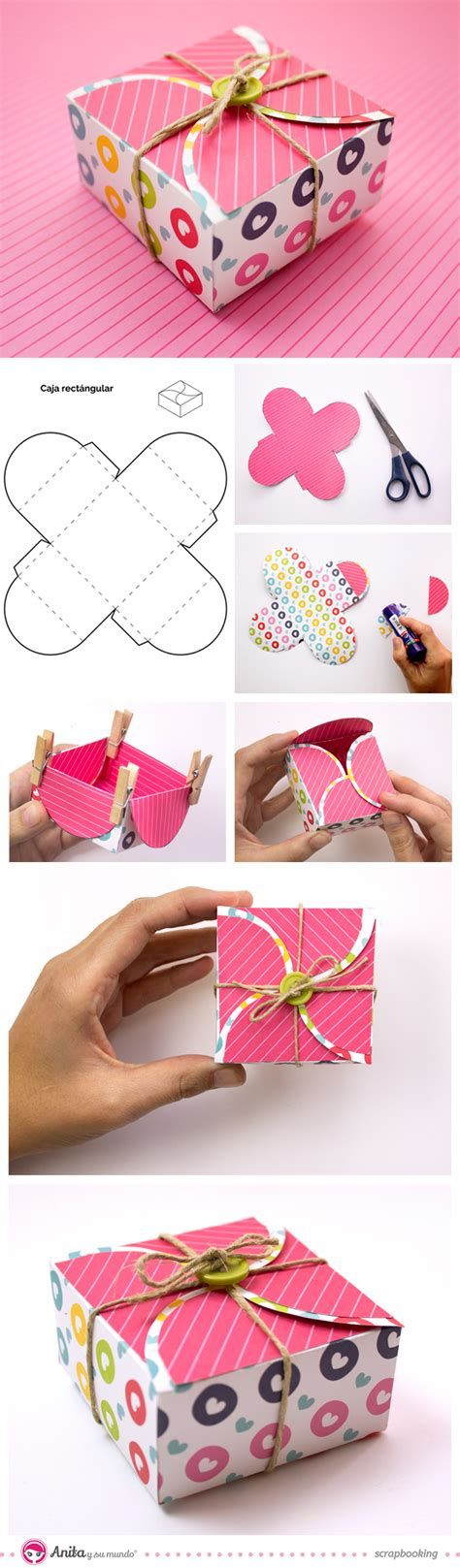 Self Closing Origami Box - square gift box with self closing diy crafts tips