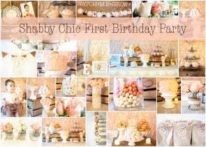 Shabby chic first birthday party design dining diapers