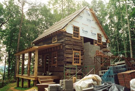 Handmade Log Cabin - an owner built log cabin handmade houses with noah
