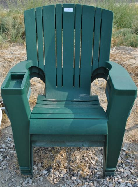 lot of 3 heavy duty plastic outdoor chairs