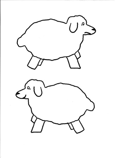 sheep template printable free printable sheep template