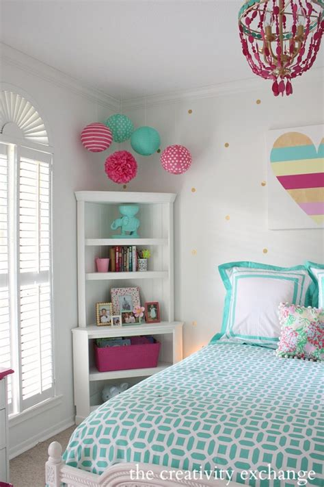 how to decorate a teen girl s walls bedroom with little girl s room reved to bright and bold tween room