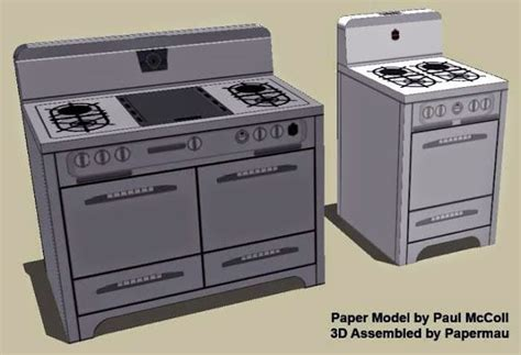 Kitchen Dollhouse Furniture Papermau Wedgewood Kitchen Stoves Paper Models Tons Of