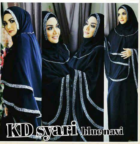 Natasya Syari gamis syari khimar lebar niqab modern and navy