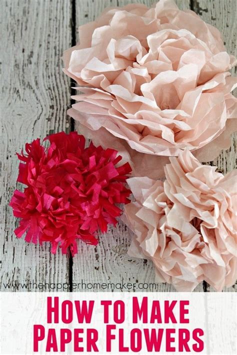 How To Make Tissue Paper Bouquet - tissue paper flowers tissue paper and paper flowers on