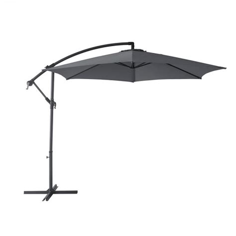 Parasol Deporte Inclinable by Parasol D 233 Port 233 Marbella Rond Inclinable Gris Anthracite