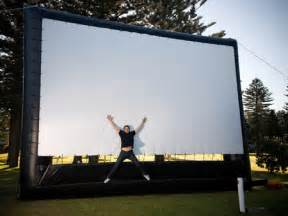 outdoor theater system large projection