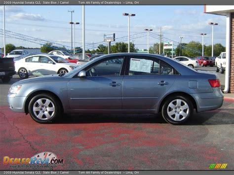 2009 Hyundai Sonata Gls by 2009 Hyundai Sonata Gls Slate Blue Camel Photo 2