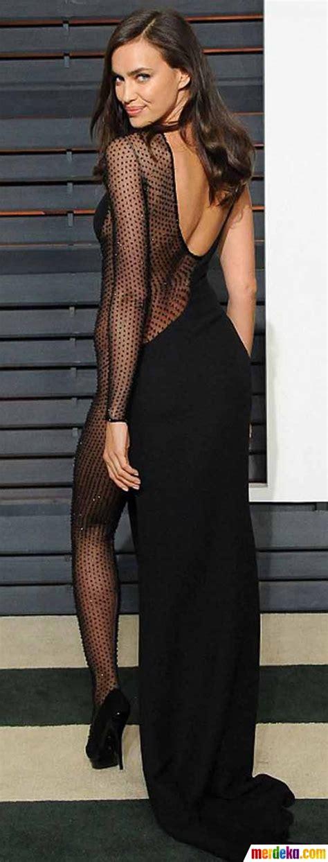 Pakaian Wanita Transparan Foto Hadiri Oscar Irina Shayk Bergaun Transparan Tanpa
