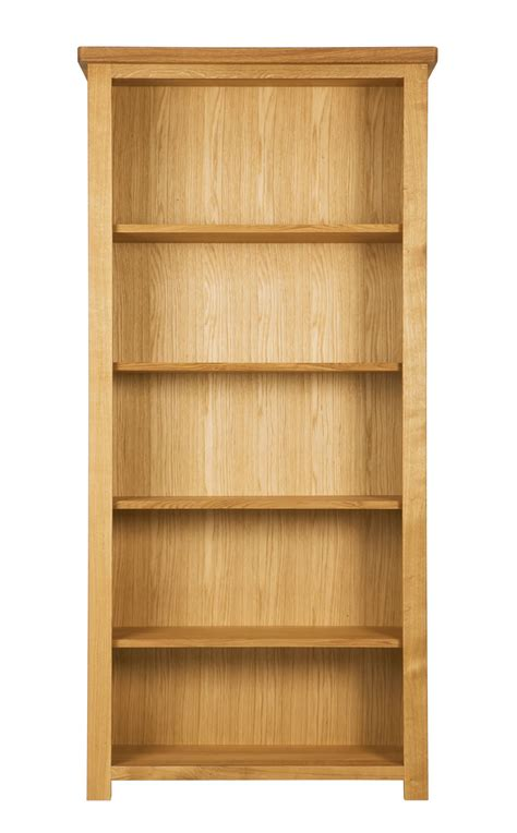 Solid Oak Bookcase Charltons Bretagne Solid Oak Wide Bookcase