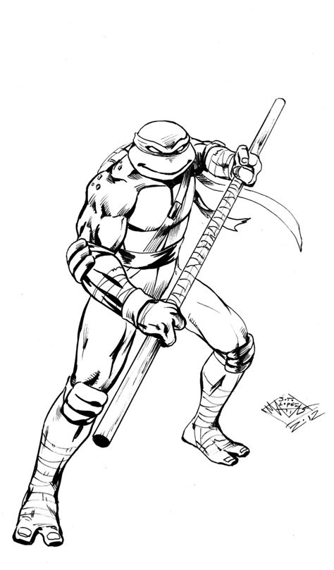 nick ninja turtles coloring pages tmnt donatello by matiassoto on deviantart