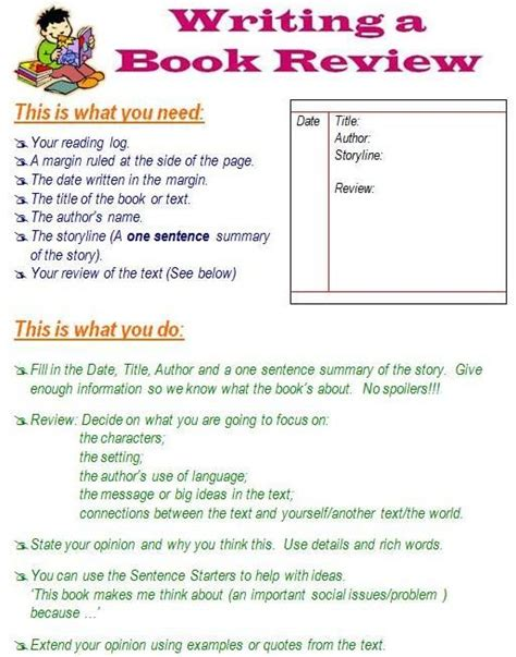 how to write a book review also many other pages on