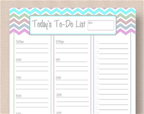 diy to do list template printable daily planner pastel chevron today s to do