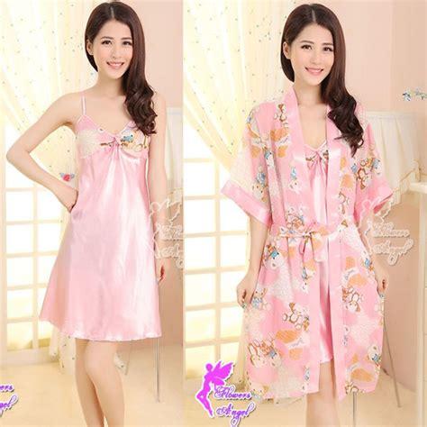 Dress Remaja Baju Tidur baju tidur piyama sw28g05 f pink chaviori intimate shop