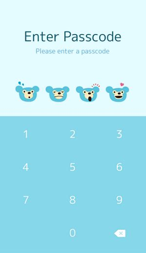 list theme line free list line theme blue bear for android ios fsticker