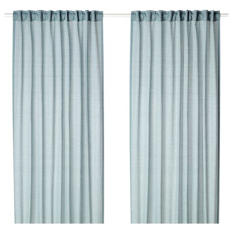ikea textiles curtains hilja curtains 1 pair blue 145x250 cm ikea
