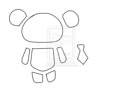 panda template template for mr panda by rako chii on deviantart