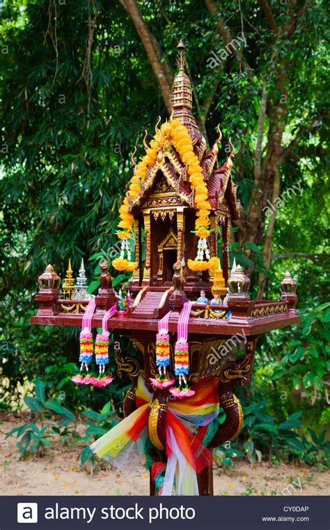 buy thai spirit house thai spirit house at our jungle house a lodge in the rainforest near stock photo