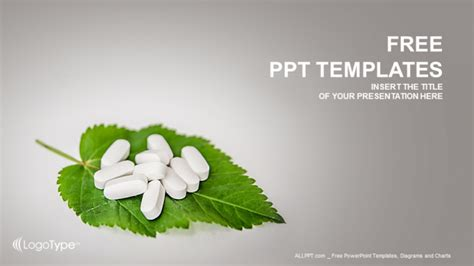 download free medical prescriptions ppt design daily pills on the leaf medical ppt templates