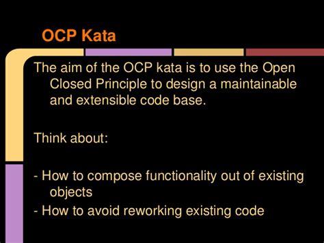 open closed principle kata
