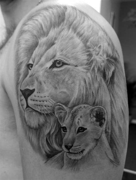lion and cub tattoo 30 amazing and cub ideas 2018