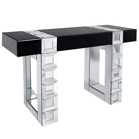 High Console Table Black High Gloss Mirrored Console Table Eco Gd 1036 163 370 00 B E Brands