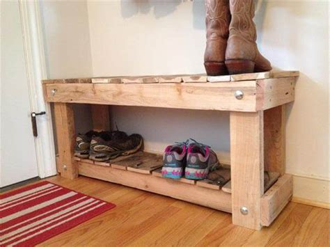 pallet bench with storage and shoe rack coat rack bench diy pallet entryway bench and shoe rack 101 pallets
