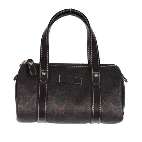 gucci brown monogram canvas mini joy boston bag  sale
