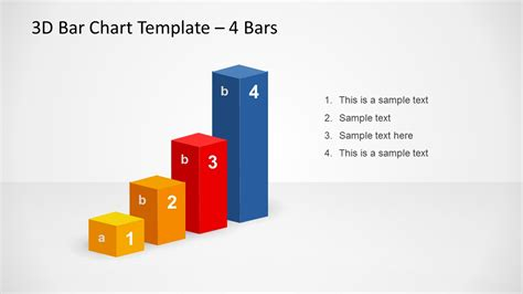 ppt templates free download bar 3d bar chart template design for powerpoint with 4 bars