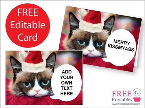 printable christmas cards cats 1000 images about grumpy cat on pinterest cats nice