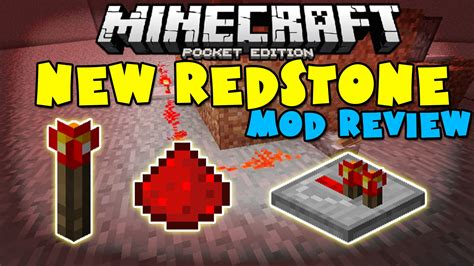 mod in minecraft pocket edition 0 10 5 redstone mod minecraft pocket edition youtube