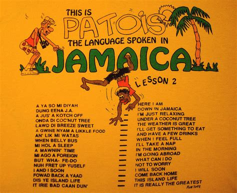 this is patois the language spoken in jamaica lesson 2