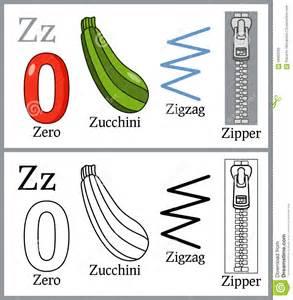 Coloring Book For Children Alphabet Z Stock Vector