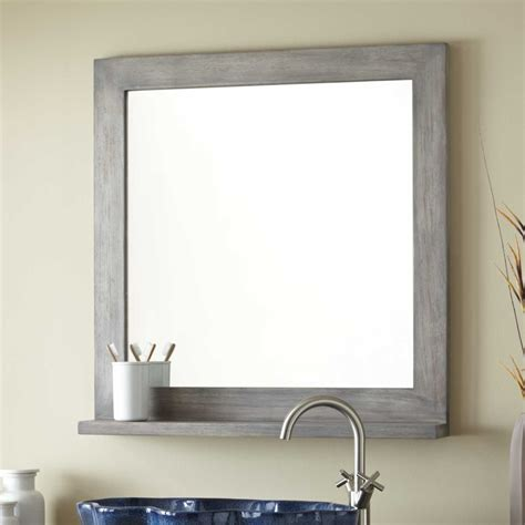 grey bathroom mirror 30 quot liani teak vanity mirror gray wash bathroom