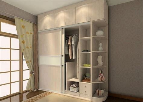 sliding  door wardrobe design  side corners storage