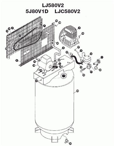 devilbiss parts lj580v2 5j80v1d ljc580v2 ra5j80v1d air compressor