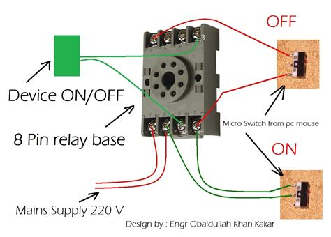 omron 8 pin relay wiring diagram circuit and schematics