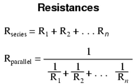 resistor equations series lessons in electric circuits volume v reference chapter 1