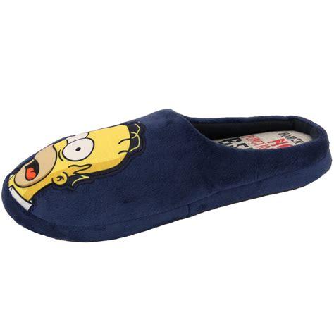 the simpsons slippers mens slippers homer simpsons minions wars tetley mule