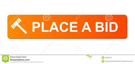 A Place Website Place Bid Orange Stock Photos Image 13905753