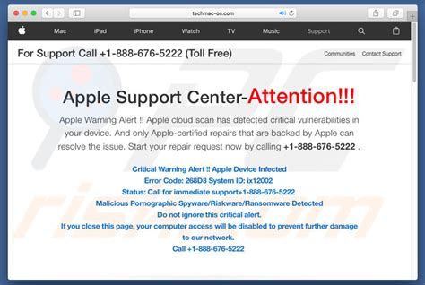 apple help center how to uninstall apple support center attention scam