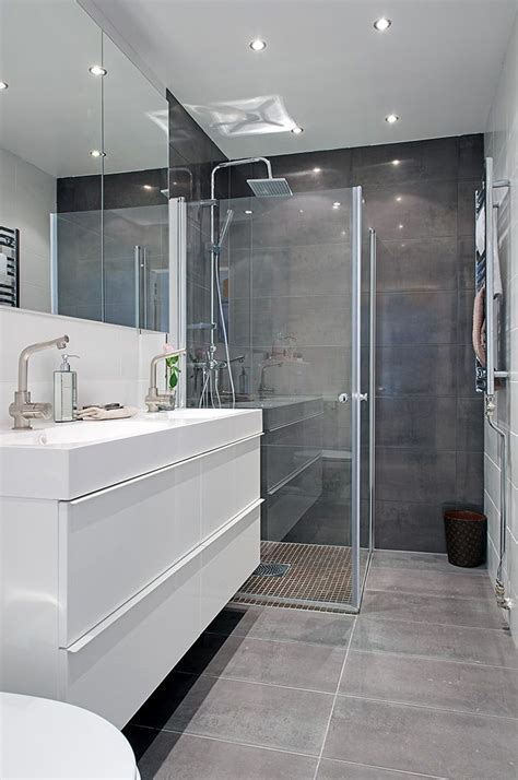 Modern Grey Bathroom 17 Best Ideas About Grey Bathrooms Designs On Pinterest Grey Bathroom Interior Grey Bathrooms