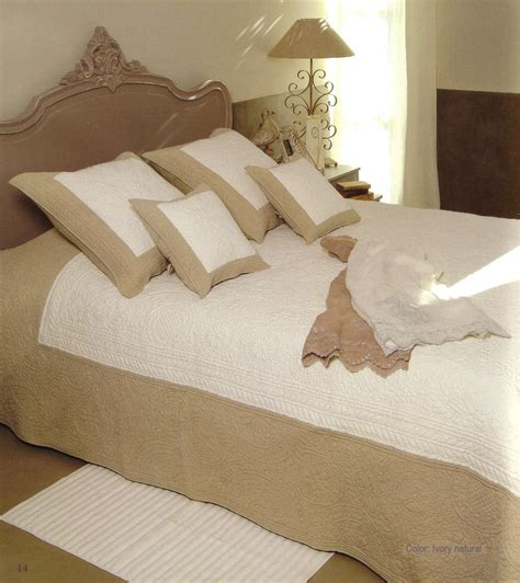 cover for bed provencal boutis bed cover bedspread odeline ivory
